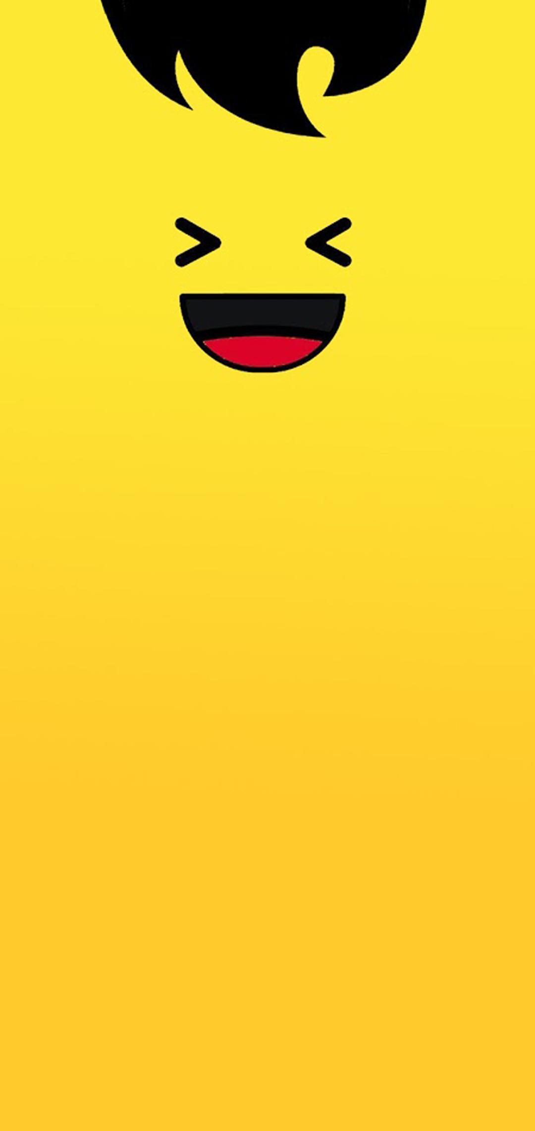 emoji hole-punch wallpaper