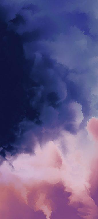 oneplus 7t pro wallpaper purple cloud