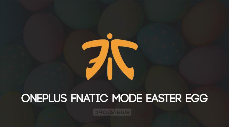 Fnatic mode easter egg oneplus