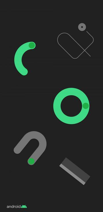 pixel 4 doodle green wallpaper