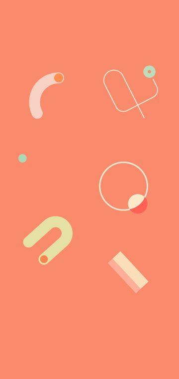 pixel 4 doodle orange wallpaper