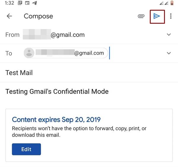 send mail confidential mode