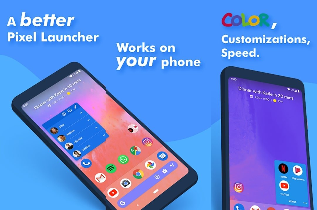 Action Launcher material design