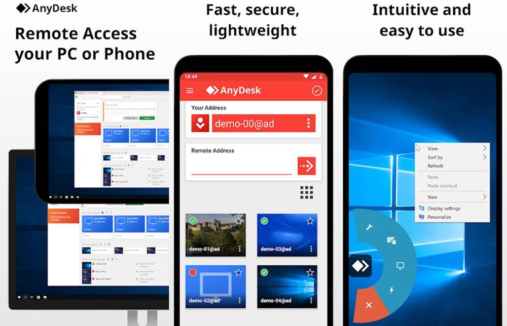 AnyDesk screen mirroring app