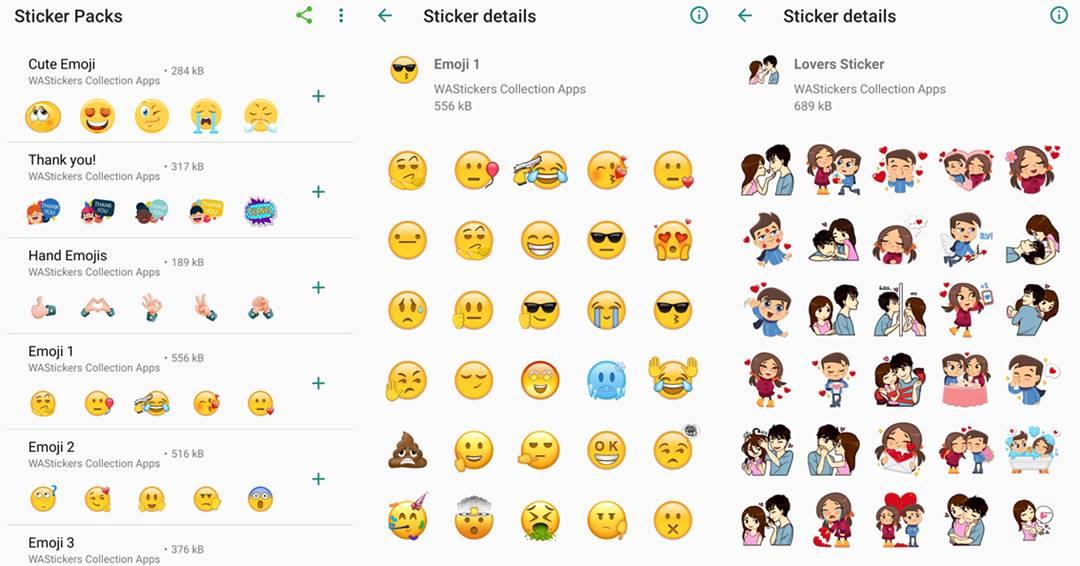 Big emojis screenshots