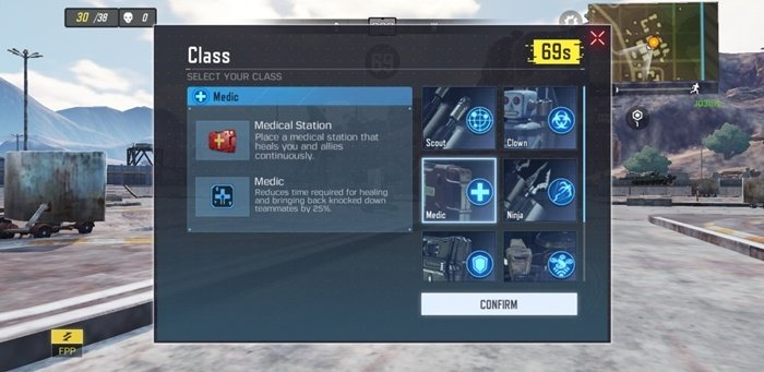 Character Class Option