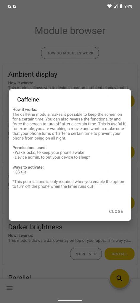 caffeine module android