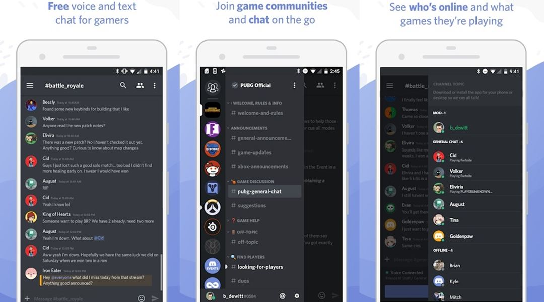Discord messaging app