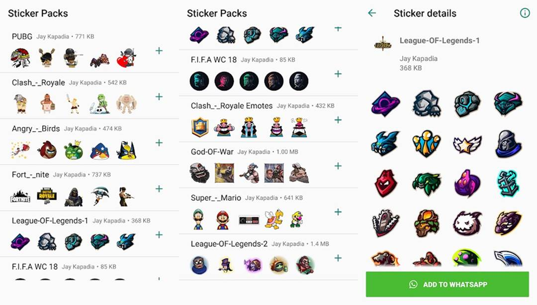 Game Stickers for WhatsApp