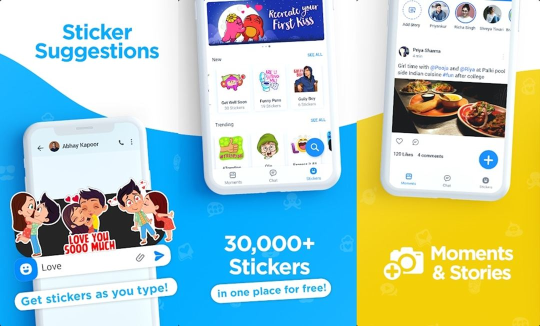 Hike sticker chat app android