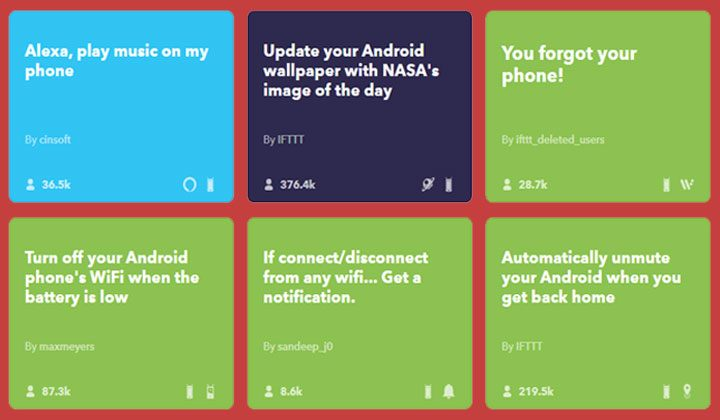 IFTTT app android