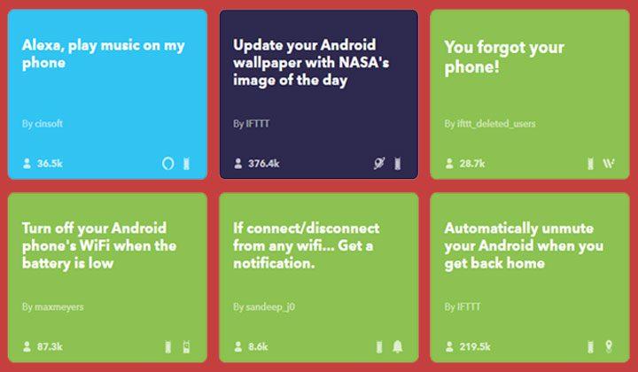 IFTTT app android
