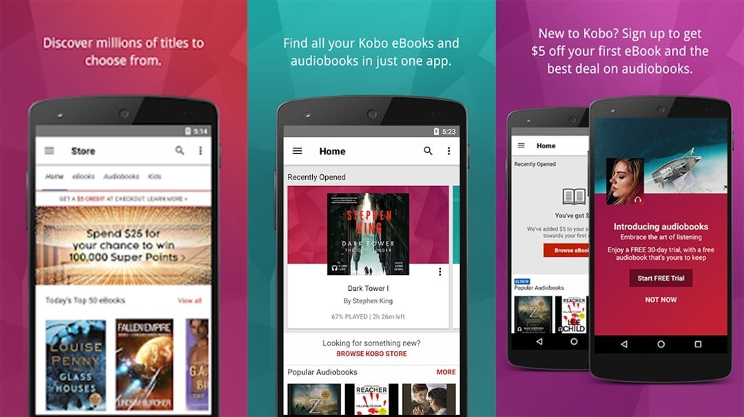 Kobo Books audio book app