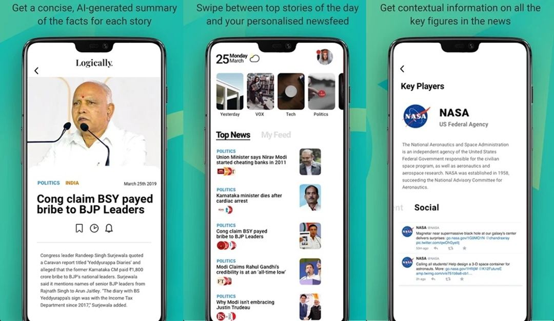 Logically AI-Powered News app
