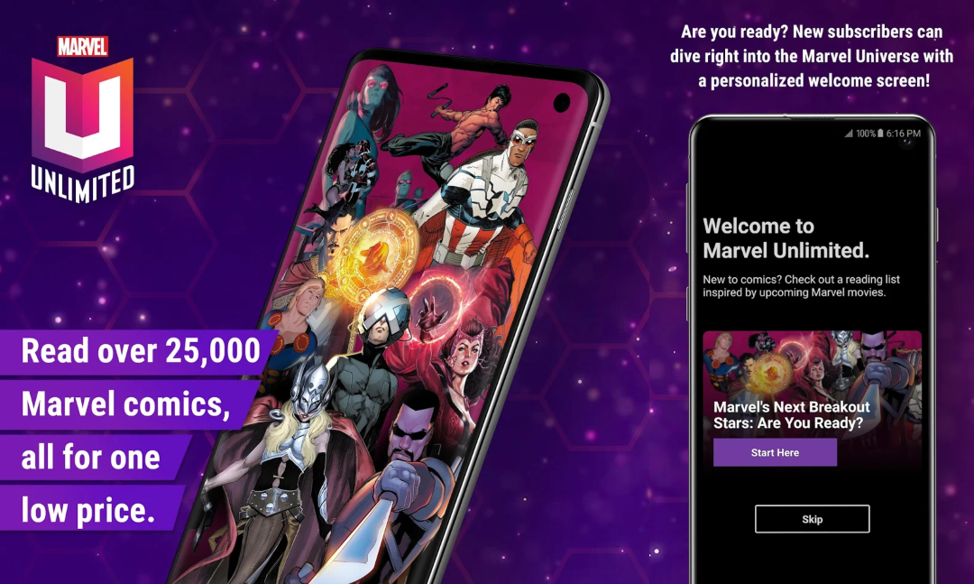 Marvel Unlimited Subscription App