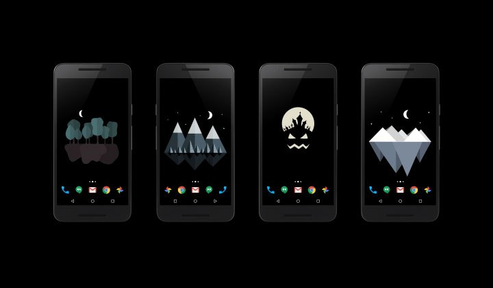 Material islands live wallpaper app