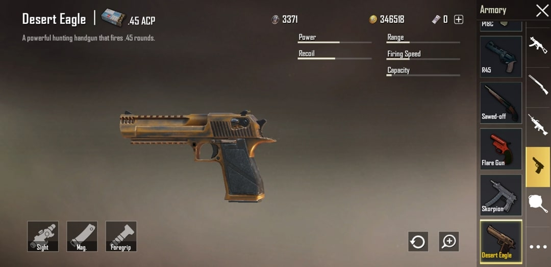 PUBG Weapon Update: Deagle