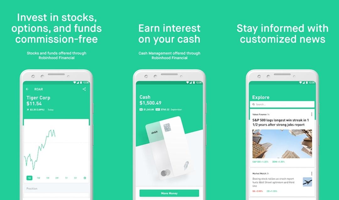Robinhood material design app