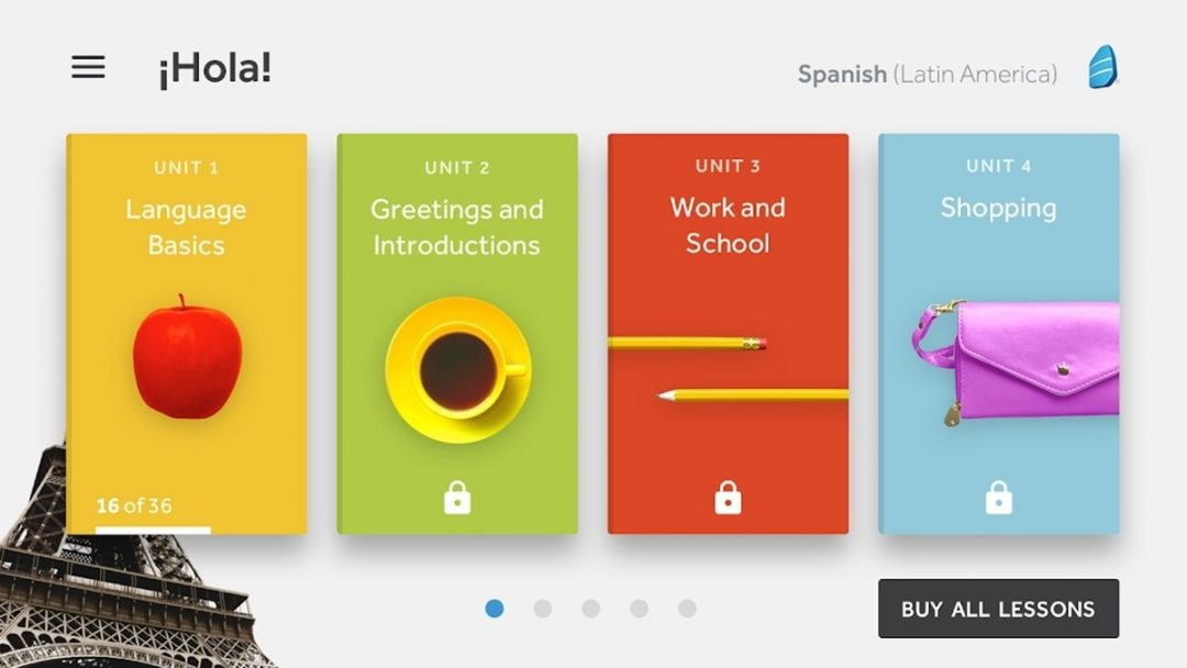 Rosetta Stone english learning app