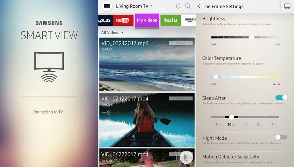 Samsung Smart View mirroring app