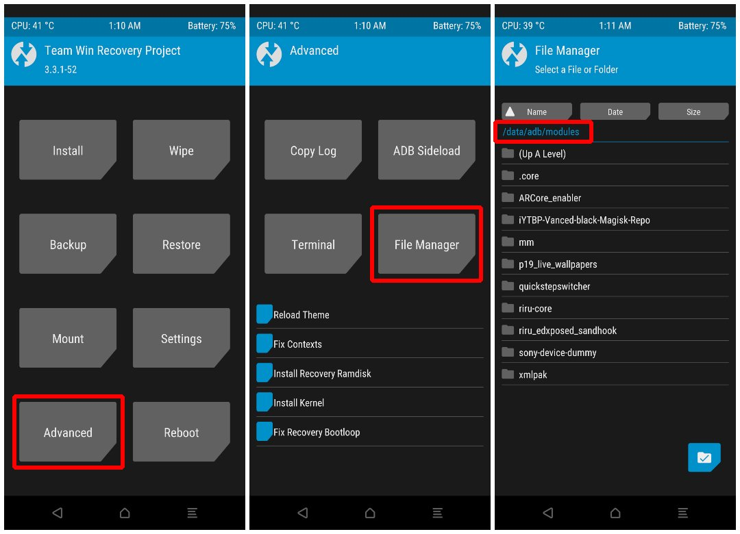 TWRP File Manager