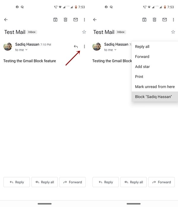 block gmail android