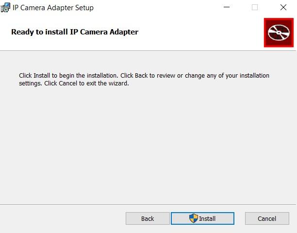 install ip camera adapter on pc