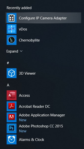 configure ip camera adapter