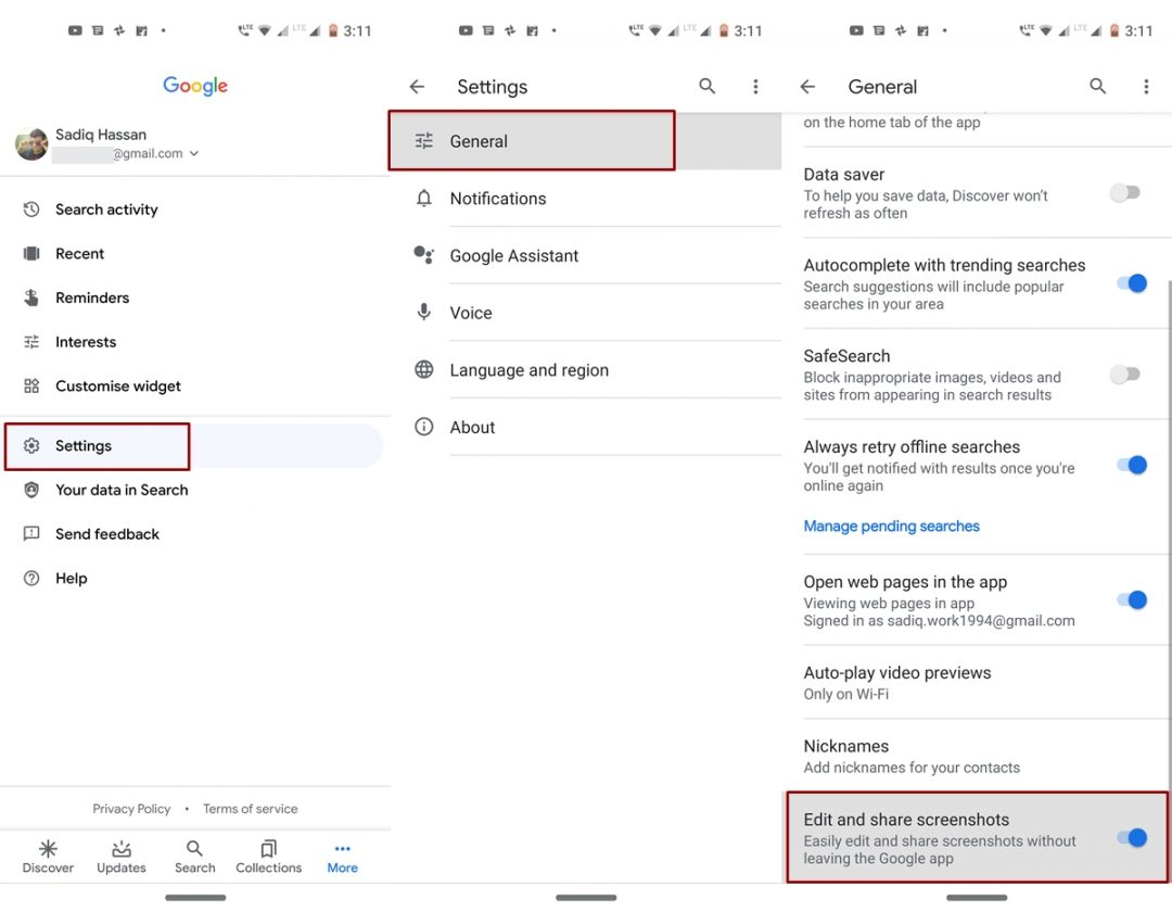 enable screenshot editor