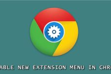 chrome extension menu