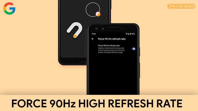 pixel 4 90hz refresh rate