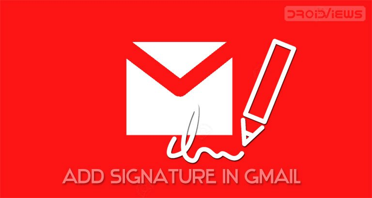 add signature in gmail