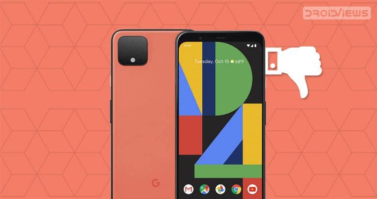 google pixel 4 thumbs down
