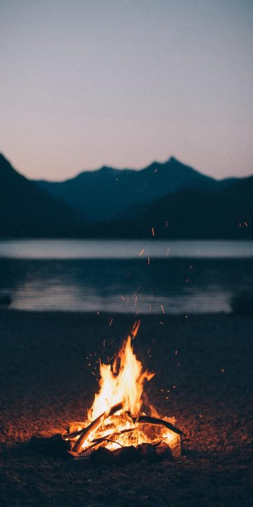 mountain fire wallpaper
