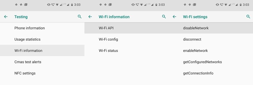hidden wifi android