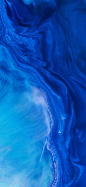 blue paint wallpaper