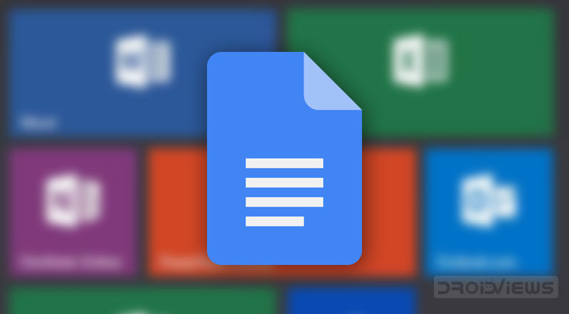 microsoft office files in gogle docs