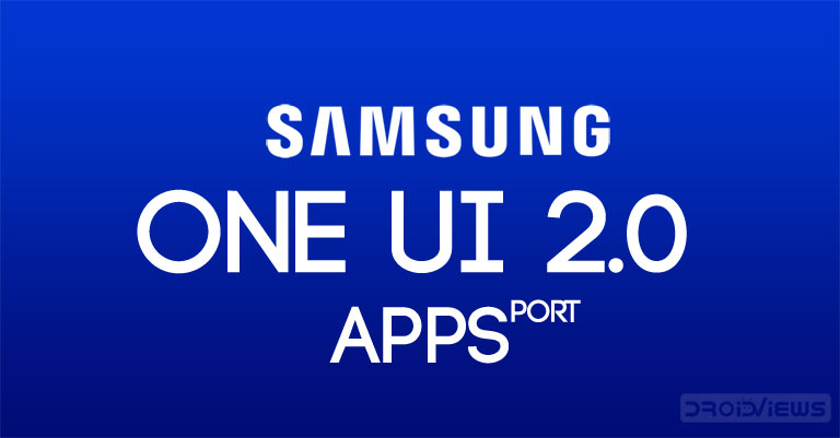 one ui 2,0 apps port