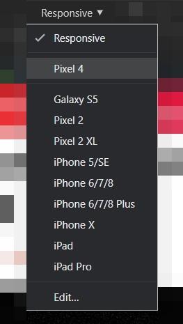 pixel 4 menu