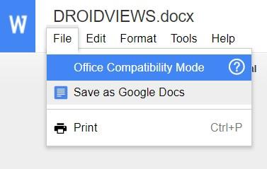save as docs
