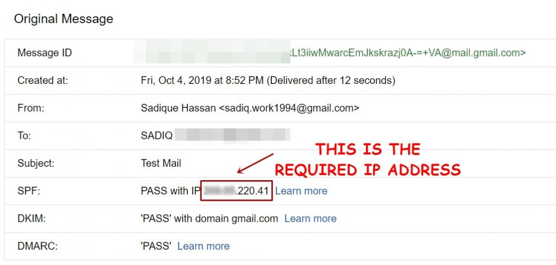 trace email IP address