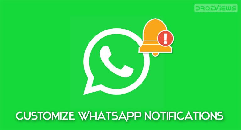 customize whatsapp notifications