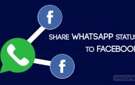 share whatsapp status to facebook