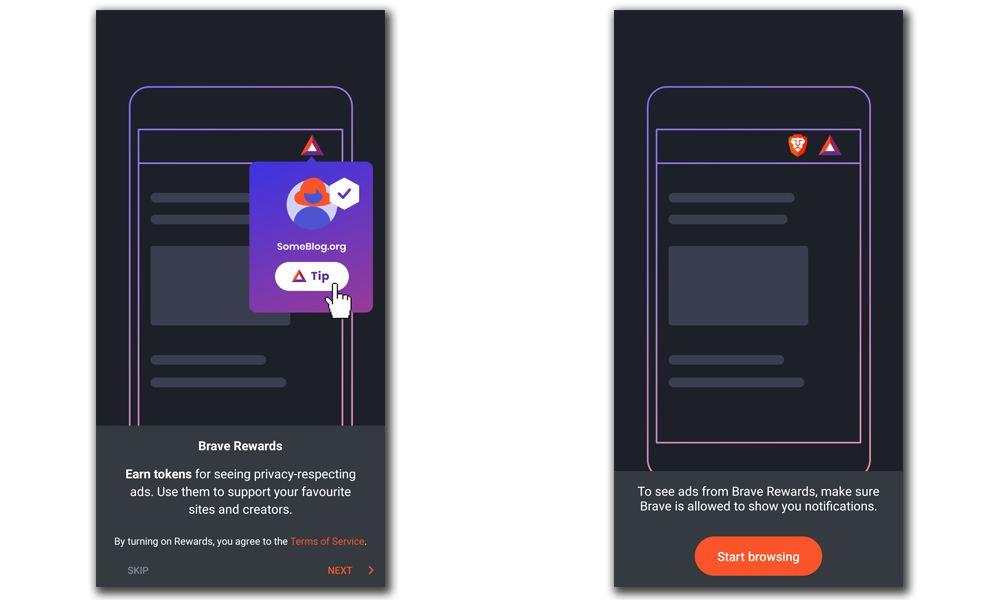 Brave Browser BAT rewards