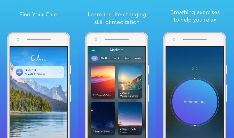 Calm relaxing sound apps