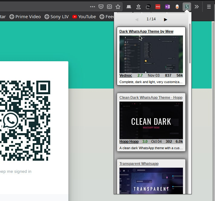 Install WhatsApp Web Dark Theme