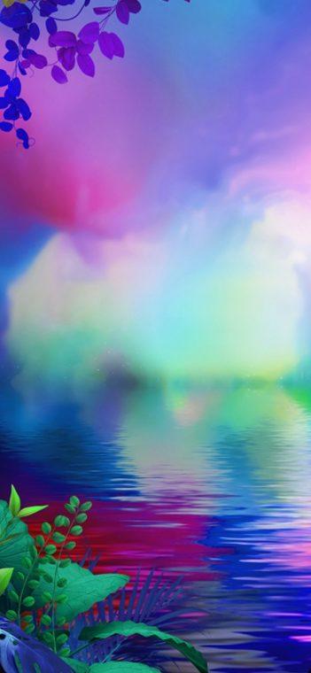 lg g8x colorful wallpaper