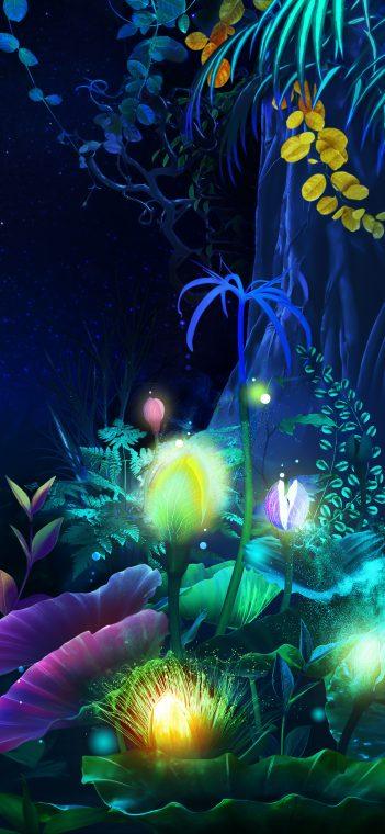 lg g8x lit plants wallpaper