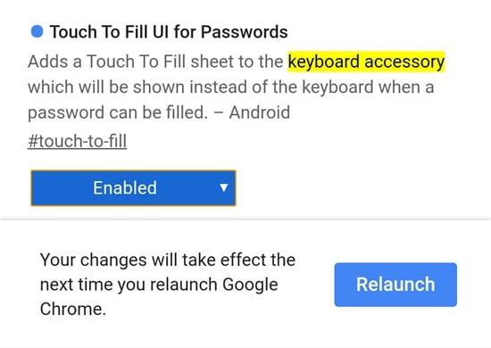 chrome new UI password