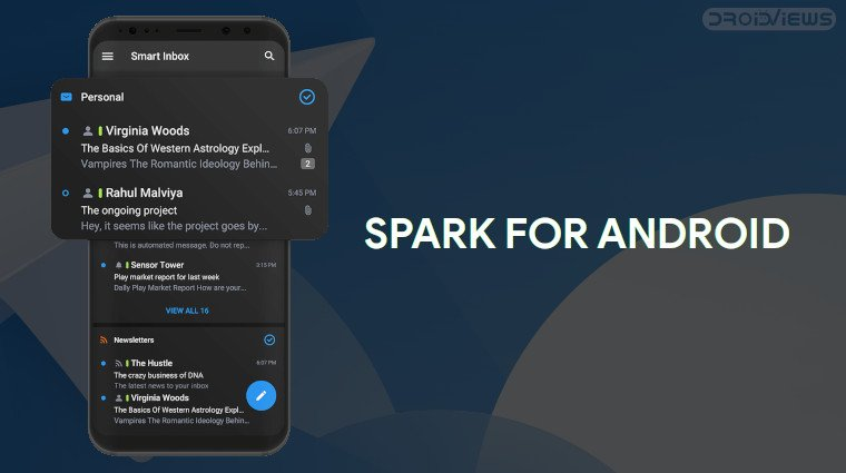 spark for android dark mode